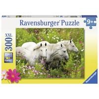 thumb-Paarden tussen de bloemen - puzzel van 300 stukjes-2