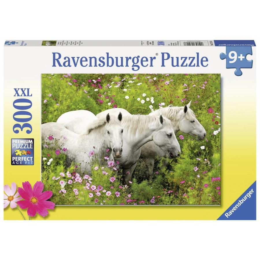 Paarden tussen de bloemen - puzzel van 300 stukjes-2