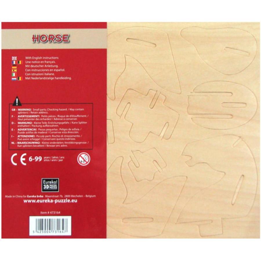 Paard- Gepetto's Workshop - 3D puzzel in hout-3