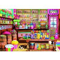 thumb-La boutique de bonbons - puzzle de 1000 pièces-1