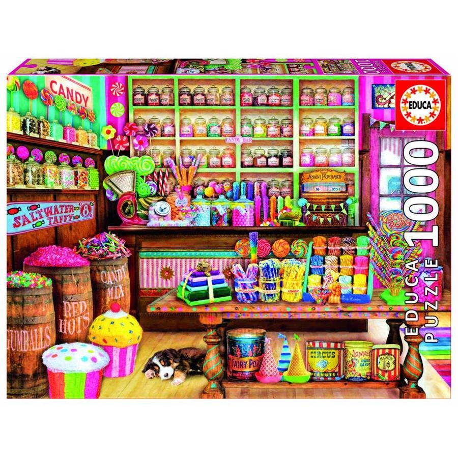 La boutique de bonbons - puzzle de 1000 pièces-2