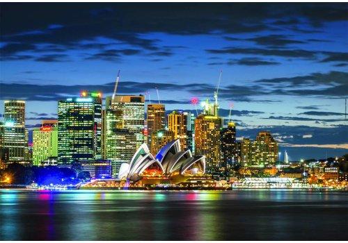 Sydney in schemerlicht - 1000 stukjes