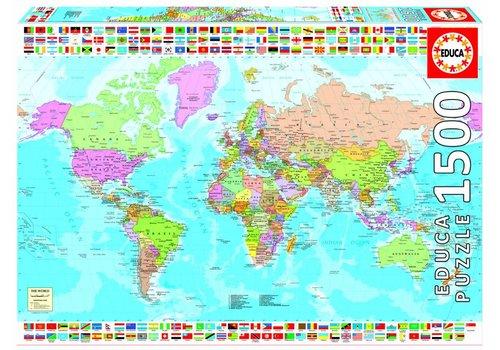 Wereldkaart - 1500 stukjes