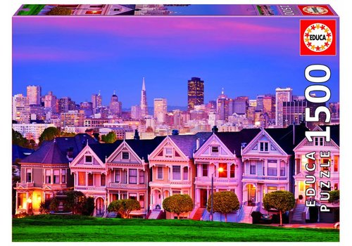 Painted Ladies in San Francisco - 1500 stukjes