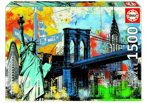 Stedelijke vrijheid - New York - 1500 stukjes