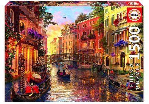Educa Coucher de soleil à Venise - 1500 pièces