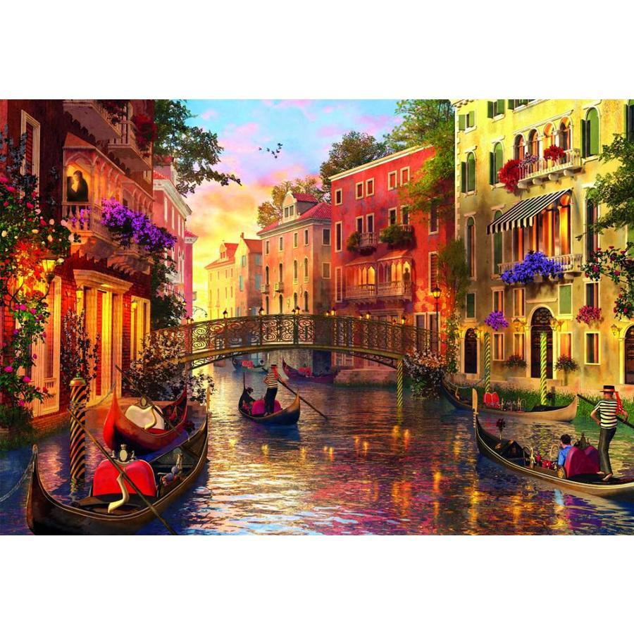 Zonsondergang in Venetië - puzzel van 1500 stukjes-2