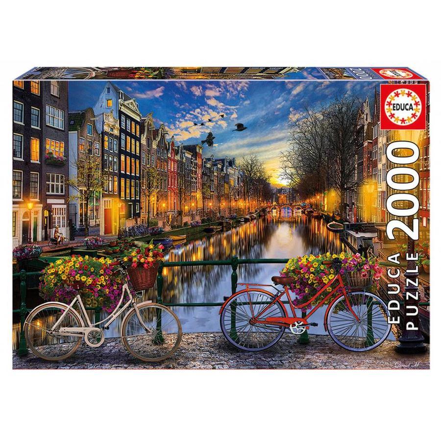 De avond in Amsterdam - 2000 stukjes-1