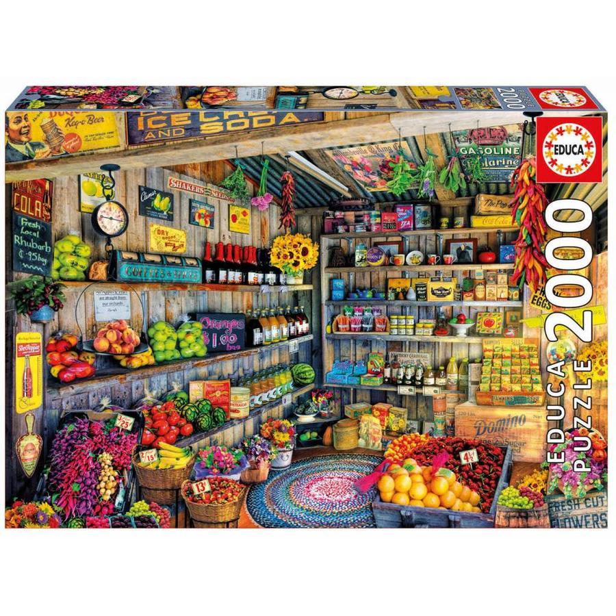 À l'épicerie - puzzle de 2000 pièces-1