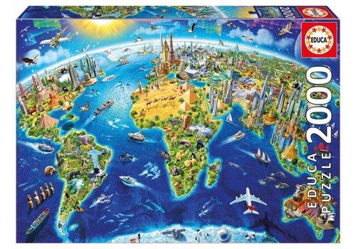 Educa Symbolen van de wereld - 2000 stukjes