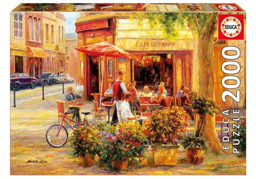 The café on the corner - 2000 pieces