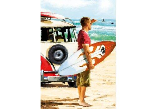 De surfer -  500 stukjes