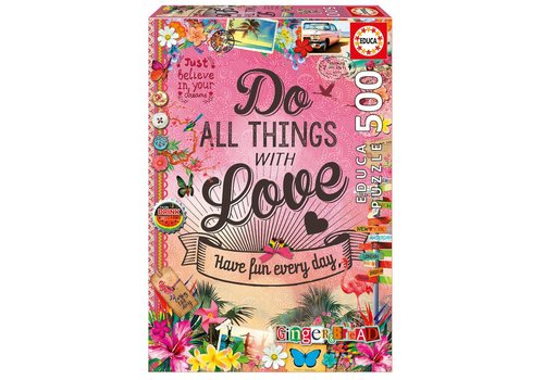 Do All Things With Love - 500 pieces