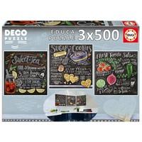 thumb-Recepten - Deco - 3 puzzels van 500 stukjes-2