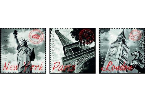 Educa Grandes Villes - Deco - 3 x 500 pièces