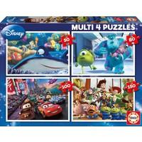 Pixar - 4 pièces puzzles 50/80/100/150