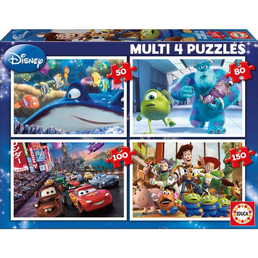 Pixar - 4 pièces puzzles 50/80/100/150-1