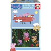 BOIS: Peppa Pig - 2 x 16 pièces