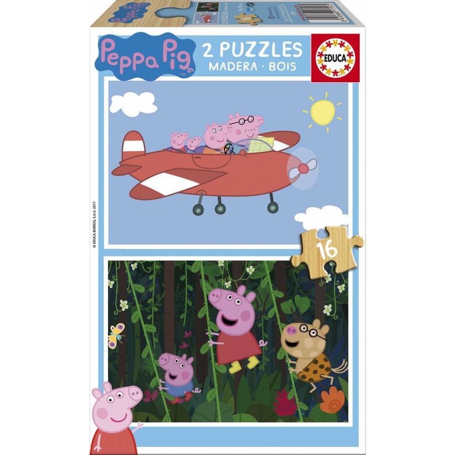 BOIS: Peppa Pig - 2 x 16 pièces-1