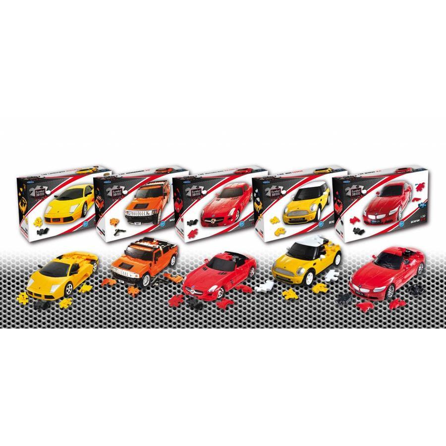 Mini Cooper**** - 3D puzzel auto-6