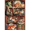Cobble Hill De boekenkast van Feline - puzzel van 2000 stukjes