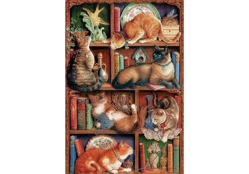 Cobble Hill Feline bookcase - 2000 pieces