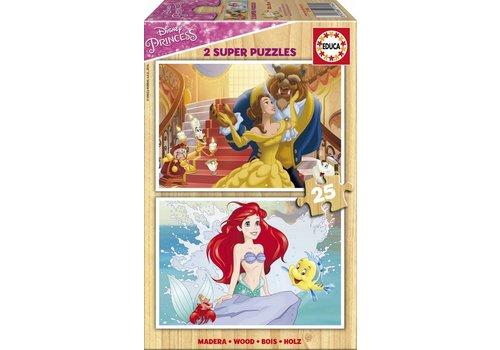 Disney Prinsessen - 2 x 25 stukjes