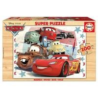 HOUT: Cars - houten puzzel van 100 stukjes