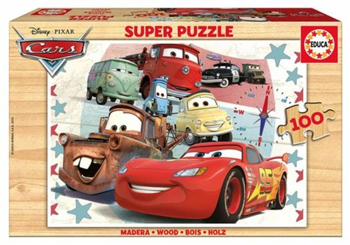 WOOD: Cars - 100 pieces