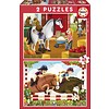 Educa Crazy for horses  - 2 x 48 stukjes