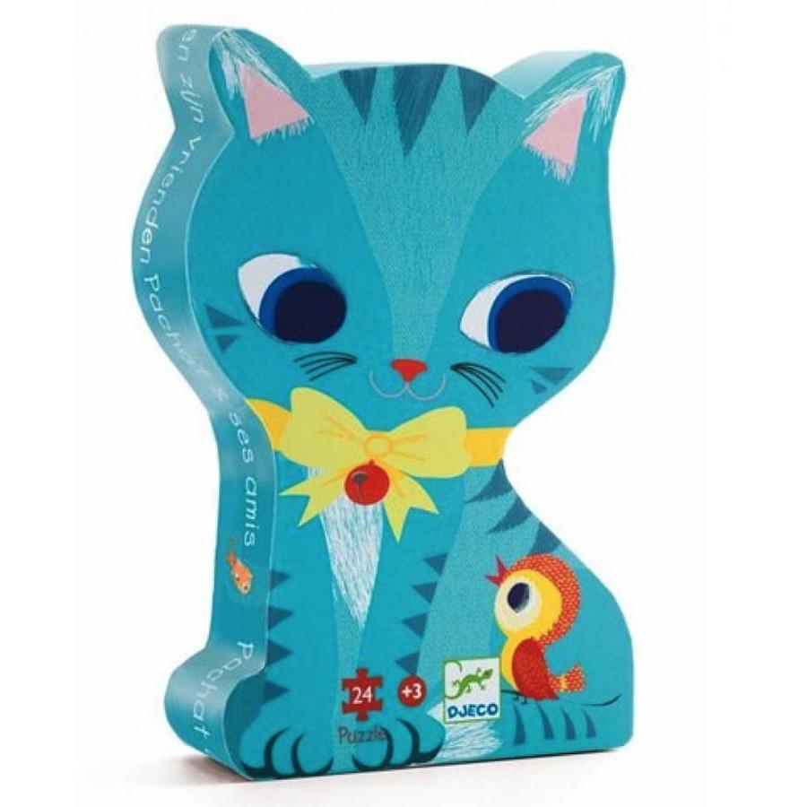 De kat en haar vriendjes - 24 stukjes-1