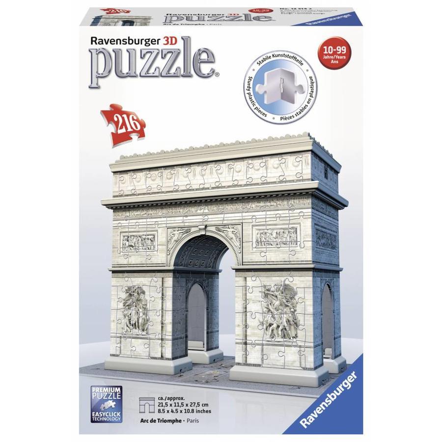 Arc de Triomphe - 3D puzzel - 216 stukjes-1
