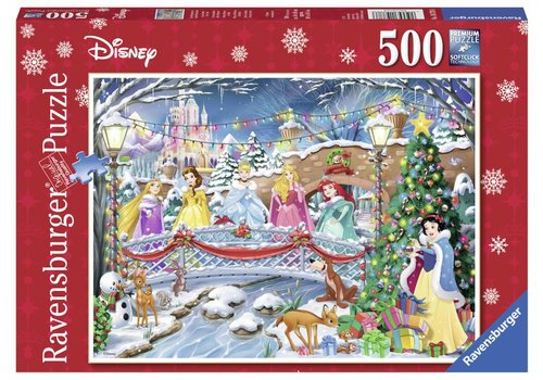 Kerst met Disney prinsesjes - 500 stukjes