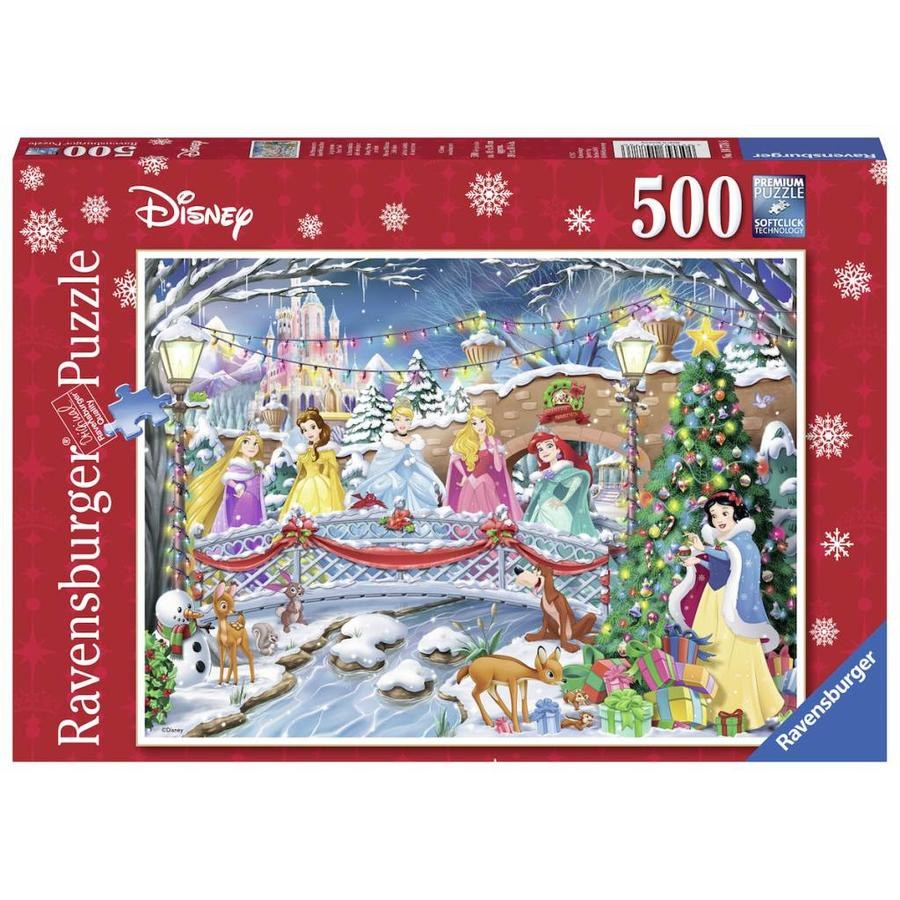 Disney Christmas Pictures.Ravensburger Christmas With Disney Princesses Puzzle Of 500 Pieces