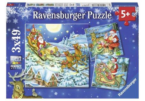 De magie van Kerstmis - 3 x 49 stukjes
