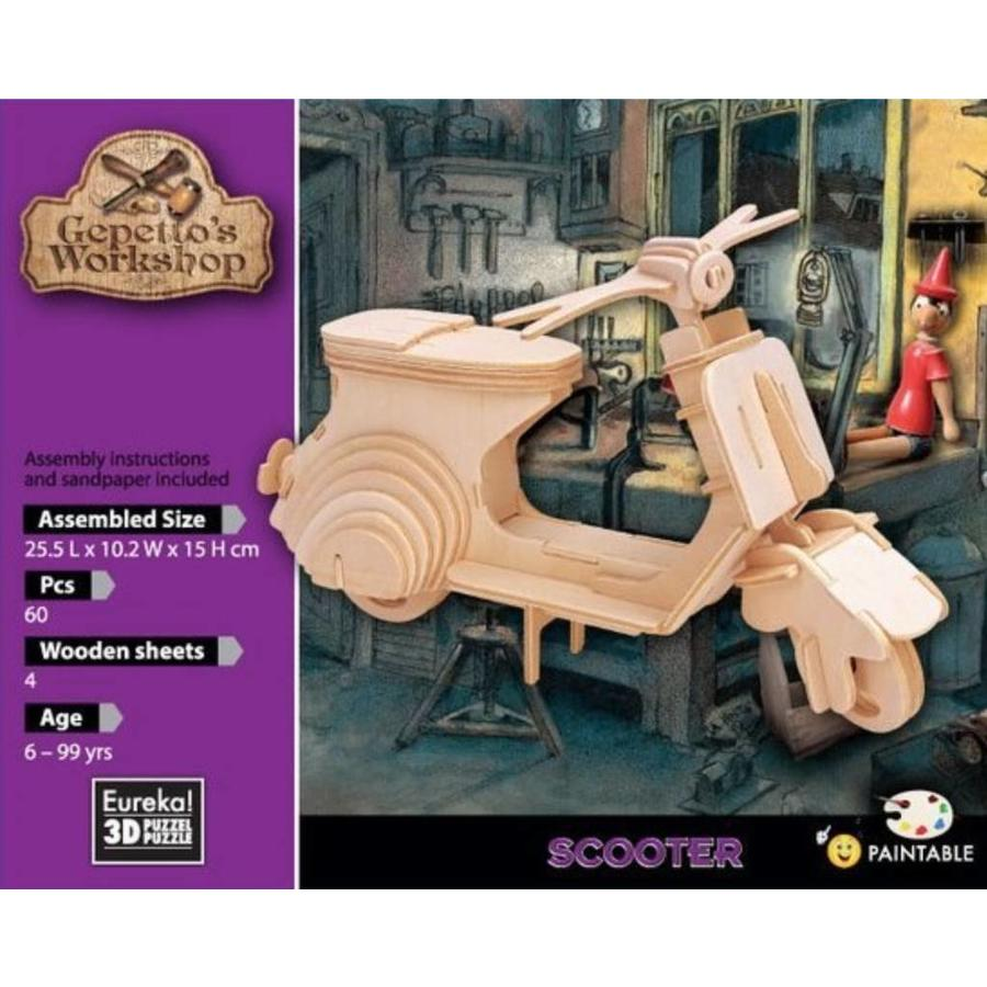 Scooter - Vespa - Puppet Workshop - 3D puzzle-2