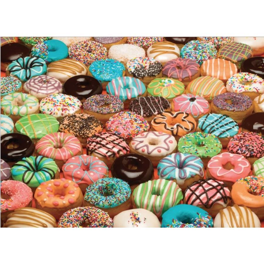 Donuts de toutes les couleurs - puzzle de 1000 pièces-1