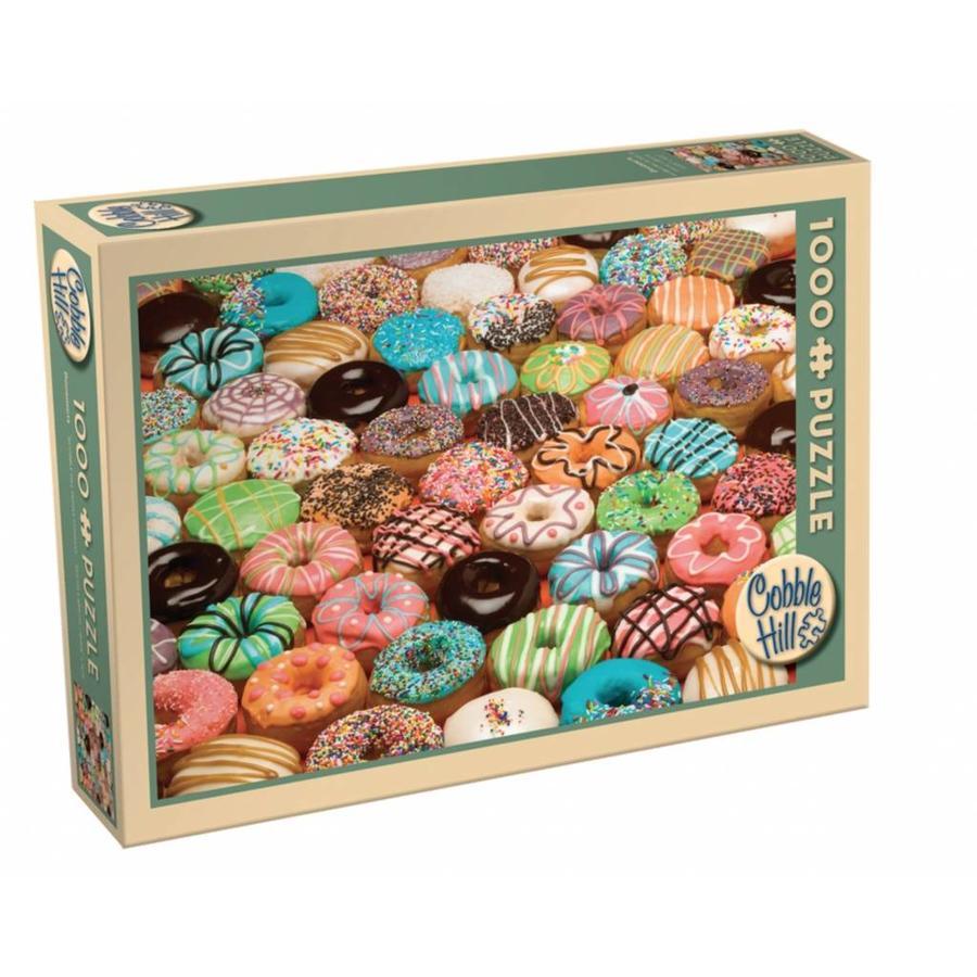 Donuts de toutes les couleurs - puzzle de 1000 pièces-2