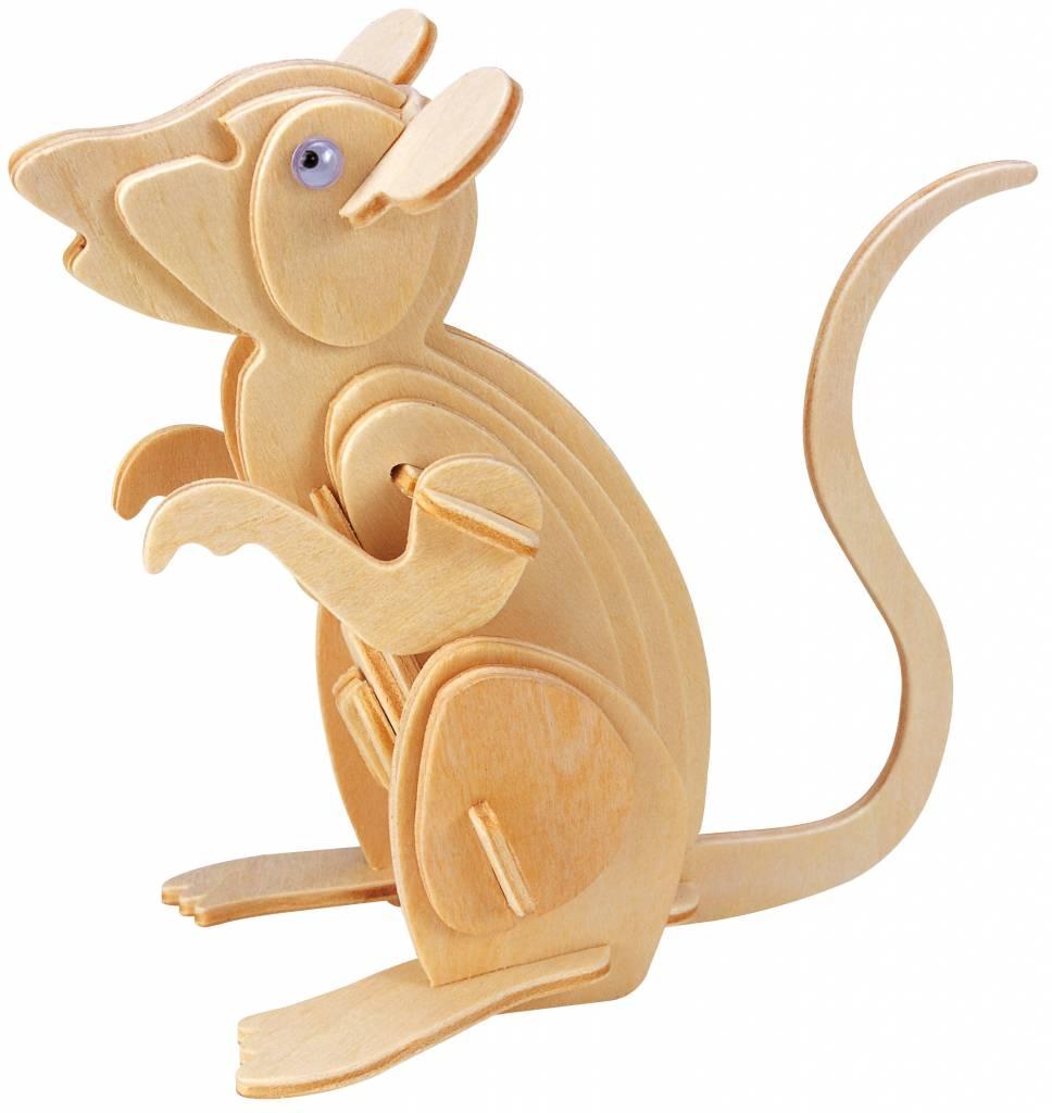 Eureka Mouse - Gepetto's Workshop - Wooden 3D puzzle
