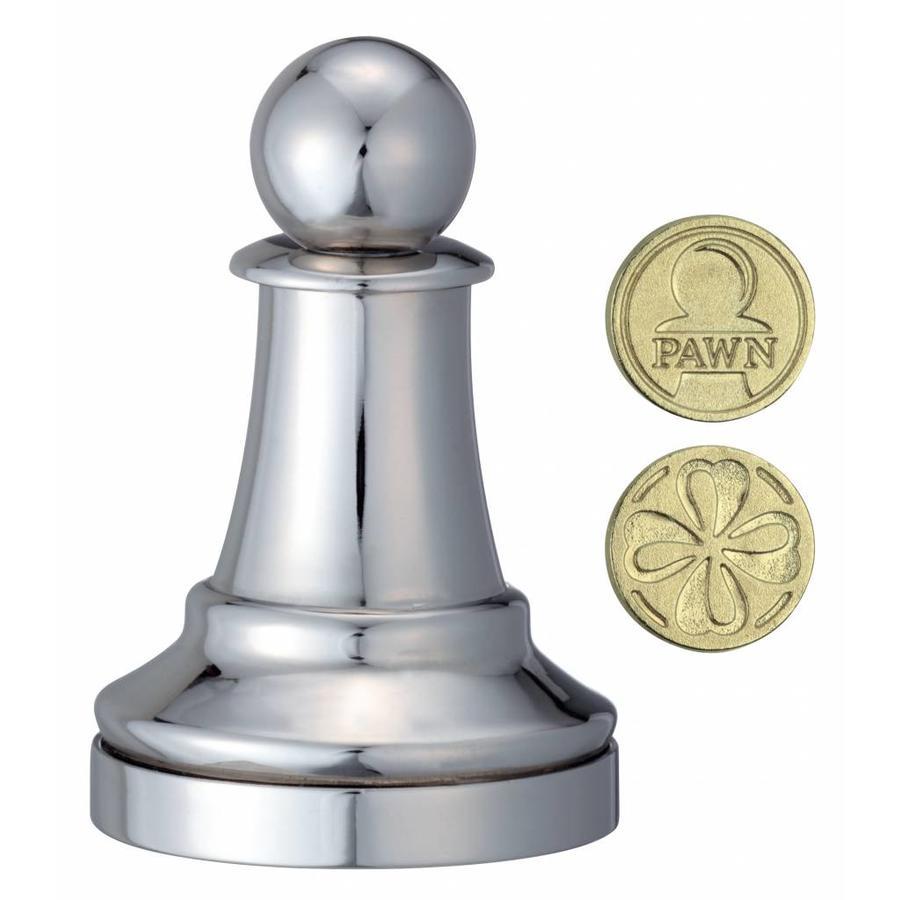 Pion Argent - Pièce d'échecs - Casse-tête de Cast-2