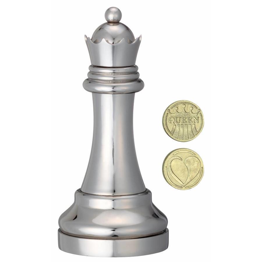 Koningin Zilver - Schaakstuk - Cast breinbreker-2