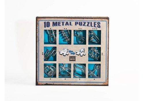 Eureka 10 casse-tête en métal - bleu ensemble