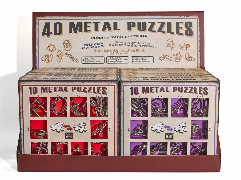 Eureka 10 Metal brain teasers - red set