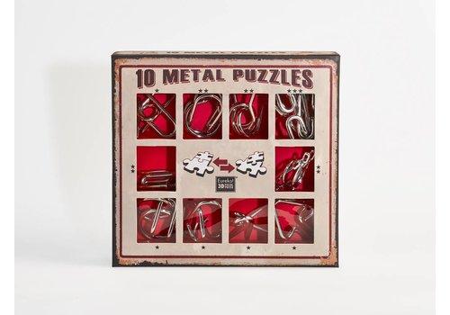 10 Metalen breinbrekers - rode set