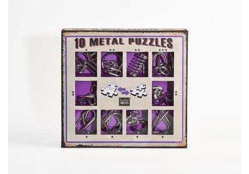 Eureka 10 casse-tête en métal - ensemble violet