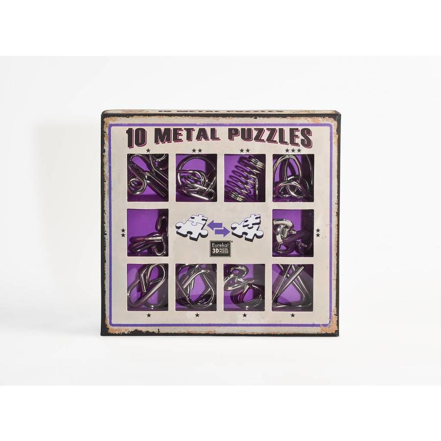 10 Metalen breinbrekers - paarse set-1