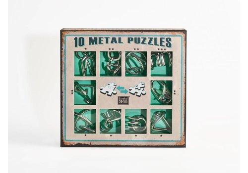 10 Metalen breinbrekers - groene set