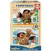 Educa HOUT: Disney Vaiana - 2 houten puzzels x 25 stukjes