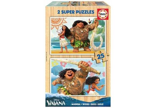 HOUT: Disney Vaiana - 2 x 25 stukjes