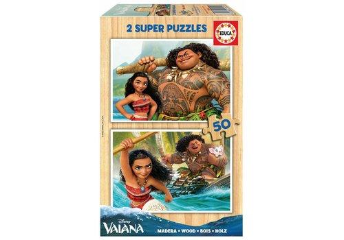 WOOD: Disney Vaiana - 2 x 50 pieces